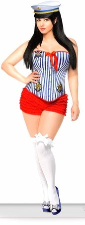 WOMEN'S 3 PC PIN-UP SAILOR GIRL HALLOWEEN COSTUME SCDCB1914