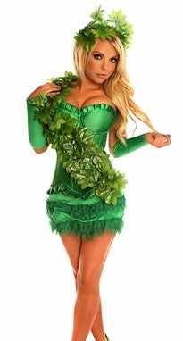 WOMEN'S 4 PC SEXY IVY VIXEN HALLOWEEN COSTUME SCDCB2010