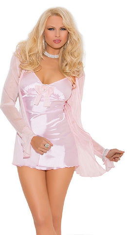 "SC4023-SLICKCHIX ""3 PC SATIN BABYDOLL"""