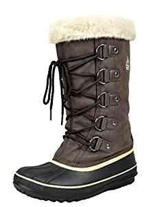 WOMENS AVALANCHE WINTER INSULATED FAUX FUR LINING COZY WARM WATER RESISTANT SNOW BOOTS SC6030