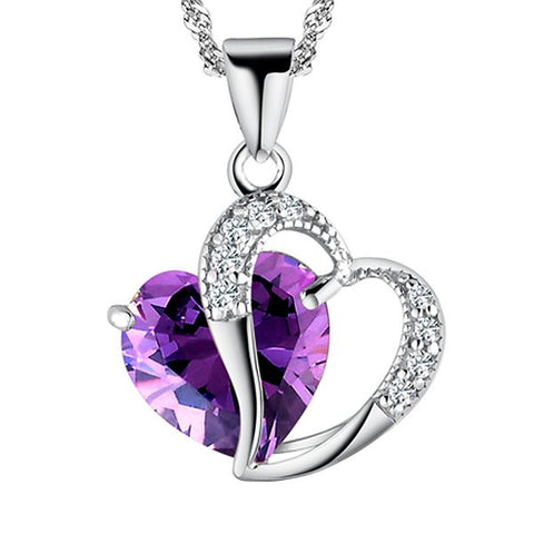 WOMENS A HEART FULL OF LOVE STERLING SILVER PENDANT NECKLACE SC6014