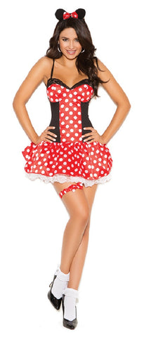 WOMENS 3 PC MISS MOUSE COSTUME SC9130
