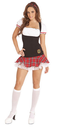 WOMENS 2 PC FRISKY FRESHMAN COSTUME SC9237