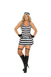 WOMENS 3 PC CONVICT CUTIE COSTUME SC99074