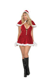 WOMENS 2 PC MRS SANTA COSTUME SC99075