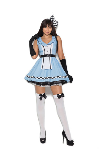 WOMENS 4 PC STORYBOOK ALICE COSTUME SC99084