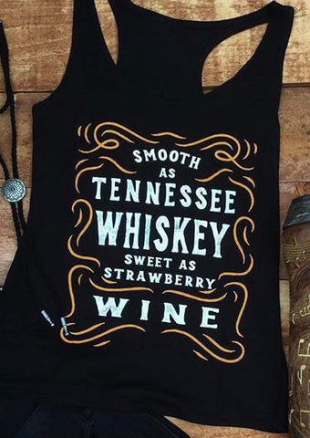 WOMENS SMOOTH AS TENNESSEE WHISKEY TANK SC-BL0050