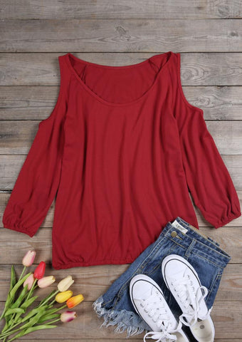 WOMENS SOLID OFF SHOULDER BLOUSE SC-BL10014