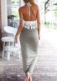 WOMENS LACE CAMISOLE & LONG SKIRT OUTFIT SC-BL3011