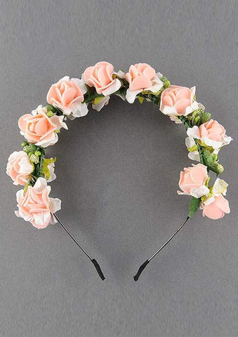 WOMENS FLOWER GARLAND CUTE HAIRBAND SC-BL9007