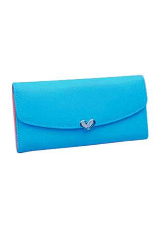 SOLID HEART CLUTCH WALLET SC-BL9013