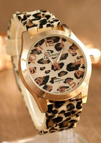 LEOPARD PRINTED WRIST WATCH SC-BL9020
