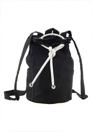 DRAWSTRING ZIPPER CANVAS BACKPACK SC-BL9021