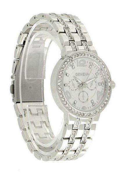 WOMENS BLING STAINLESS STEEL WRIST WATCH SC-BL9023