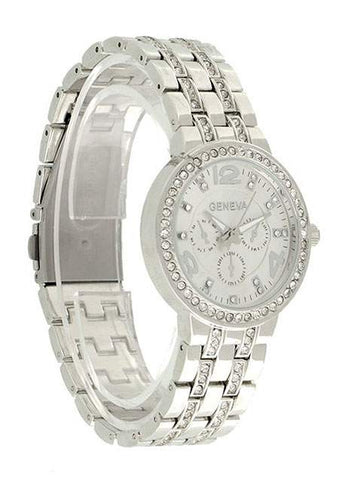 SC-BL9023-BLING STAINLESS STEEL WRIST WATCH