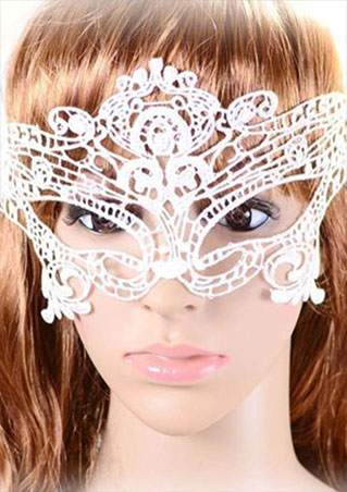 SC-BL9025-SOLID LACE HOLLOW OUT MASK