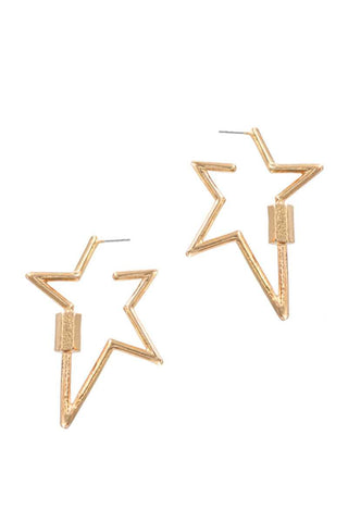 Metal Star Earring