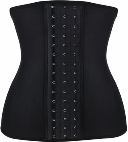 "SLICKCHIX ""BLACK STEEL BONED LATEX SHAPER"" WAIST TRAINING CORSET"