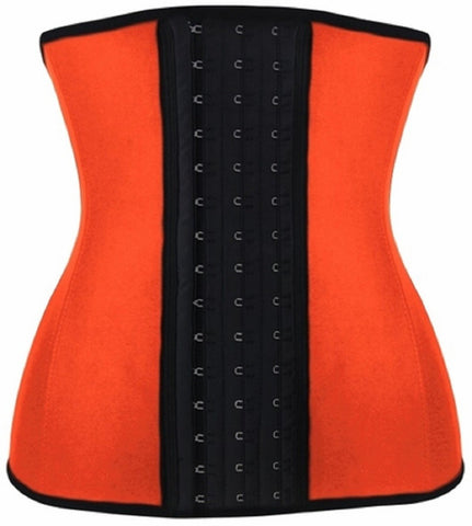 "SLICKCHIX ""ORANGE STEEL BONED LATEX SHAPER"" WAIST TRAINING CORSET"