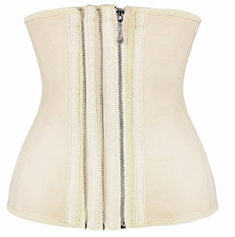 "SLICKCHIX ""SMOOTH ZIPPER LATEX STEEL BONED"" WAIST TRAINING CORSET"