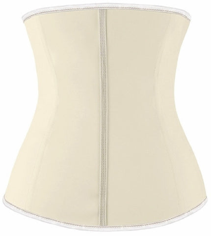 "SLICKCHIX ""NUDE LATEX WITH ZIPPER"" WAIST TRAINING CORSET"