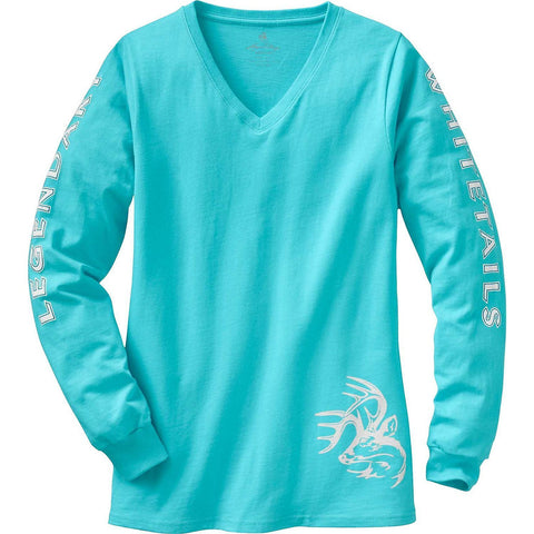 SCCNTRY002- WHITETAILS WOMEN'S COTTON LONG SLEEVE T-SHIRT
