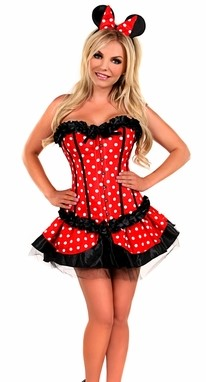 WOMEN'S 3 PC SEXY MISS MOUSE HALLOWEEN COSTUME SCDCB1920