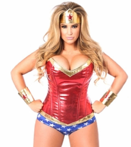 "SLICKCHIX ""TOP DRAWER PREMIUM SUPERHERO CORSET"" COSTUME"