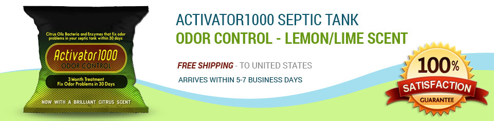 Activator1000 septic tank Odor control - lemon/lime scent