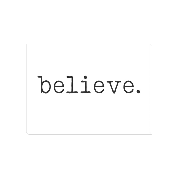 believe. Canvas Wrap 5x7