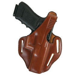BIANCHI Model 77 Piranha Pancake-Style Holster Black Left Hand SZ 13C S&W M&P 9mm/.40