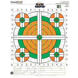 "Champion Scorekeeper Targets 12 Pack, 14""x18"" 100 Yard Rifle, Sight In"