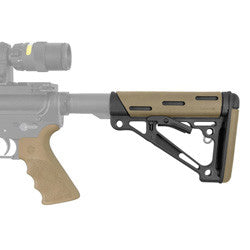 HOGUE AR15 Kit - Rubber Grip with Finger Grooves and Collapsible Buttstock in Flat Dark Earth
