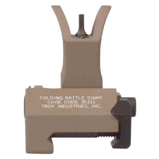 Troy Industries Front Folding M4 Style BattleSight Flat Dark Earth