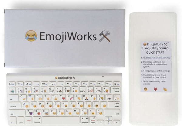 EmojiWorks Emoji Keyboard - Bluetooth Wireless Keyboard for Mac, iPad, Windows