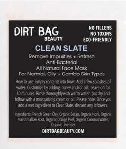 Clean Slate Face Mask