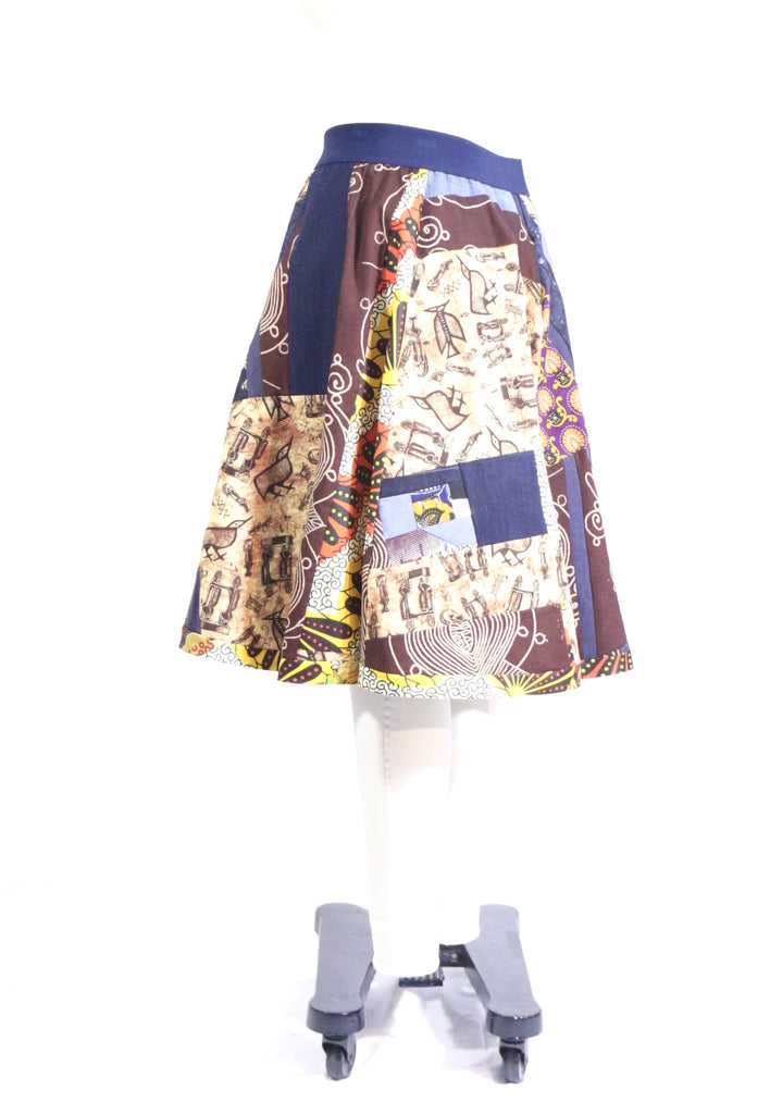 African Patchwork Skirts Available at....