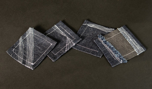 4 Denim Patchwork Coaster 1020A