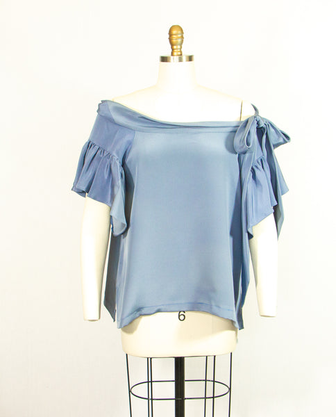 Shades of Blue 4 Ply Silk Tunic