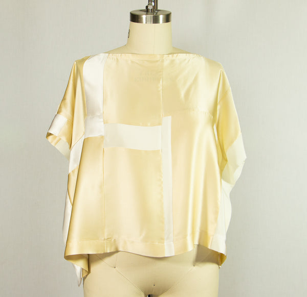 Patchwork Silk Charmeuse Tunic