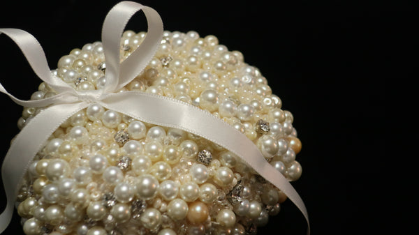Pearl Beaded Bridal Pillow