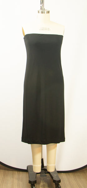 Black Matt Jersey Tube Dress