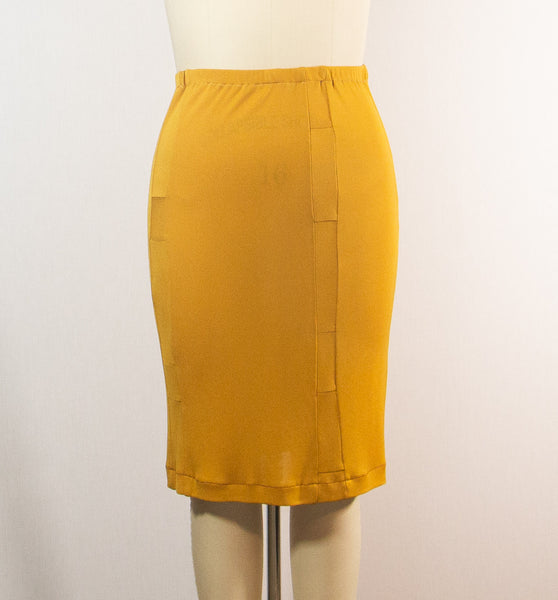 Sunflower Yellow Matte Jersey Skirt