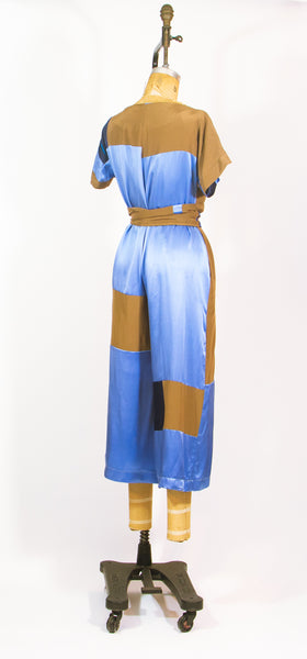 Patchwork Silk Jumpsuit