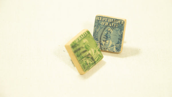 Scrabble Tile Vintage Hatian Stamp Pins
