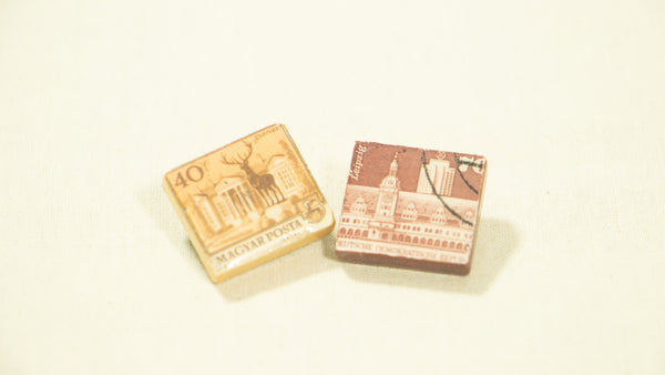 Scrabble Tile Vintage Postage Stamp Pins