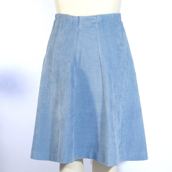 Grey Blue Corduroy Skirt
