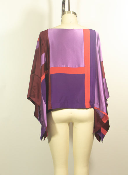 Patchwork 4 ply Silk Charmeuse Tunic
