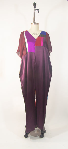 Patchwork Silk Charmuese Jumpsuit