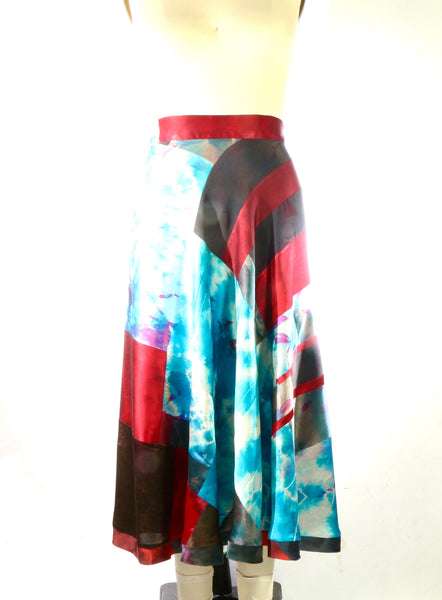 Plus Size Silk Charmuese 1/2 Circle Skirt